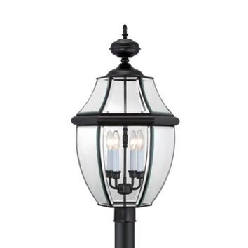 Quoizel Newbury Outdoor Extra-Large Post Lantern in Mystic Black