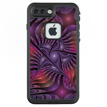 Colorful Fantasy Abstract Modern Purple Fractal LifeProof® FRĒ® iPhone 7 Plus Case