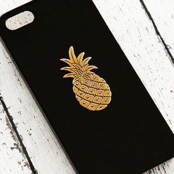 low priced 7c895 91101 Pineapple iPhone 6 Case iPhone 5 Pineapple iPhone 4 5s 5c Pineapple Fruit  Charm Gold Gift Ideas iPhone5 Black iPhone 5c Trendy iPhone 6 Plus