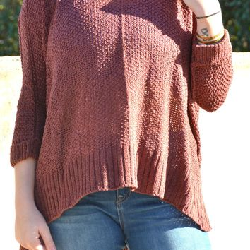 Feel The Love Sweater - Burgundy