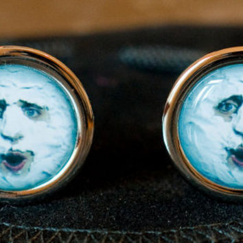 The Mighty Boosh - The Moon - Chrome Finish Cufflinks