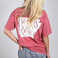 charlie southern: born & raised tee - Arkansas [red]