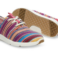 RASPBERRY TRIBAL WOVEN WOMEN'S DEL REY SNEAKERS