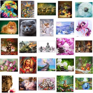 25 pattern 5d diy diamond painting cross stitch kits Cartoon animal picture