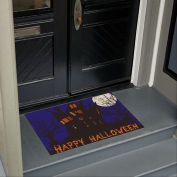 Happy Halloween Haunted House Doormat
