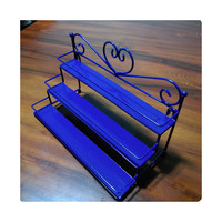 Iron Nail cosmetics jewelry display shelves shelves shelves three perfume factory outlets  blue