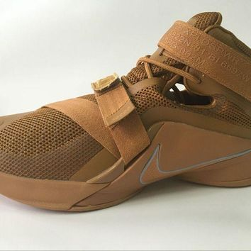 "NIke Zoom LeBron James  Soldiers 9 Ⅸ ""Desert Camouflage"" Basketball  Shoes"