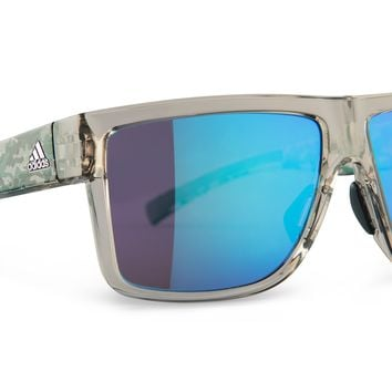Adidas - 3Matic Clear brown Camo Blue Sunglasses, Blue MirrorLenses