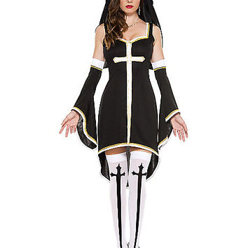 Adult Sinfully Hot Nun Costume - Spirithalloween.com