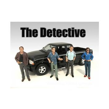 """""""The Detective"""" 4 Piece Figure Set For 1:24 Scale Models by American Diorama"""