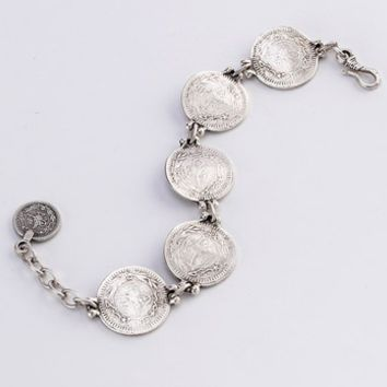 Single Row Turkish Coins Bracelet