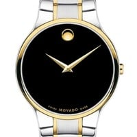 Men's Movado 'Serio' Men's Two Tone Bracelet Watch, 38mm