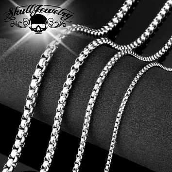 """1/4"""" Thick, Big, Bold & Heavy Box Weave Chains (7 Lengths)"""