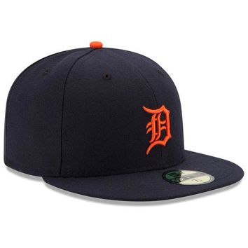 Mens New Era Detroit Tigers Authentic On Field Road 59FIFTY Hat