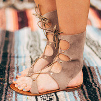 Marina Lace Up Gladiator Sandals
