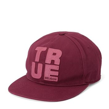 True Religion Felt Appliques Baseball Cap - Ox Blood
