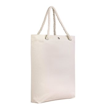 Premium Canvas Tote Bag with Rope Handles and Metal Button Closure - RP200