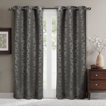 Taupe Virginia Blackout Grommet Curtain Panels (Two Panels)