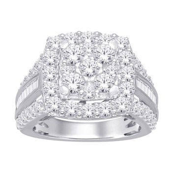 10K White Gold 3 Ct Diamond Fashion Ring