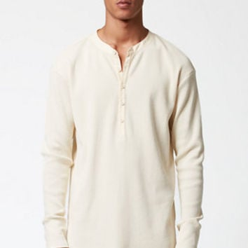FOG - Fear Of God Long Sleeve Waffle Knit Henley Shirt at PacSun.com