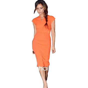 Victoria Beckham Zipped Sheath Dress