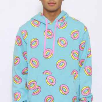Odd Future, All Over Donut Pullover Hoodie - Light Blue - Odd Future - MOOSE Limited