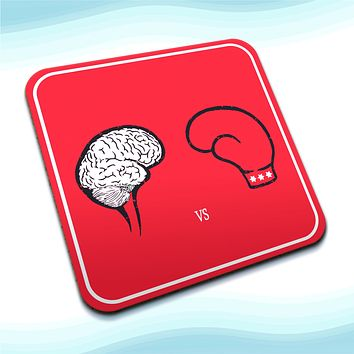 Fist Against Brain Square Coasters (Set of 4 coasters)