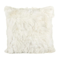 Alpaca Fur Cushion Cover - White - 60x60cm from Simple Things