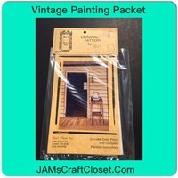 Vintage Painting Packet #2 Country Small Table Holding Pitcher