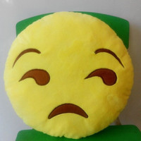 Smiley Yellow Round Emoji Pillow Throw Pillows Home Decor