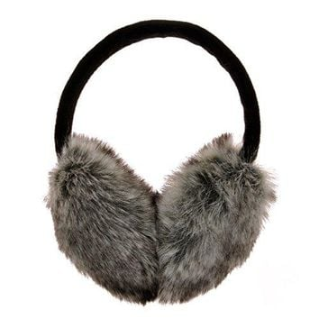 ZLYC Womens Girls Winter Fashion Adjustable Faux Fur EarMuffs Ear Warmers