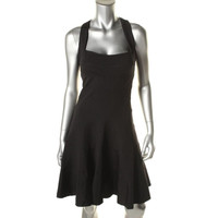Nicole Miller Womens Stretch Criss-Cross Back Party Dress