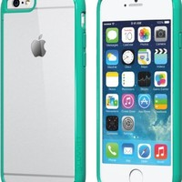 iPhone 6s Case Green, LUVVITT [ClearView] Hybrid Scratch Resistant Back Cover with Shock Absorbing Bumper for Apple iPhone 6/6s (4.7) Teal Mint Green