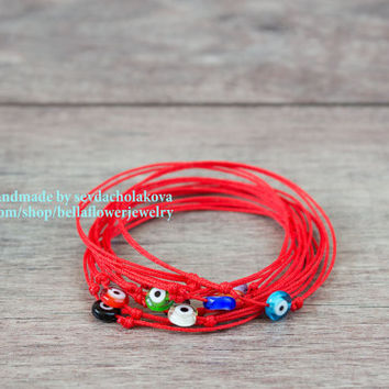 Red String Evil Eye Bracelet. Red String Kabbalah Bracelet. Blue Evil Eye. Red String Bracelet. Lucky Charms. Unisex, Women, Men, Baby