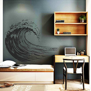 wave Wall Decals Ocean Wave Wall Decals surfing Wall Decals Surfer Nursery Wall Decor Ocean Wall Decals Wall Stickers for Bedrooms kik3423