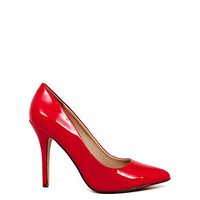 Boss Lady 4 Red Patent Leather Womens High Heel Pumps