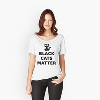 Black Cats Matter T Shirt by bitsnbobs