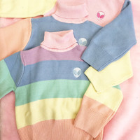 Rainbow pastel kawaii sweater 90s tumblr