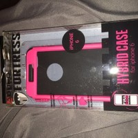 iPhone 6 hard shell protective case - pink and black