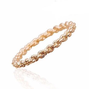 18K gold Plated Chain Ring