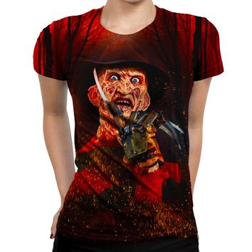 Freddy Kreuger Nightmare Womens T-Shirt