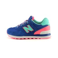 Womens New Balance 574 Athletic Shoe, Blue Pink Mint, at Journeys Shoes