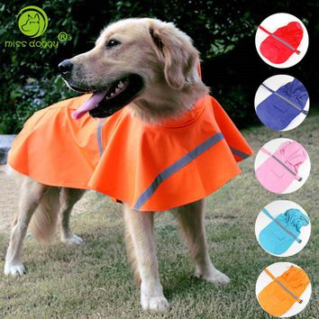 XS-XXL Reflective Pet Dog Raincoat Waterproof Rain Jackets Coat Apparel Clothes for Large Dogs Labrador German Shepherd Samoyed