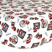 Dr. Seuss The Cat In The Hat Crib Sheet by Trend Lab (Red)