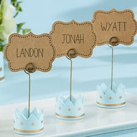 """Crown Place Card Holders for the """"Little Prince"""""""