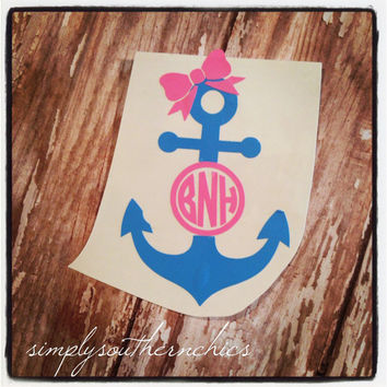 Anchor Monogram - Great for Car, Laptop or Anything!!!