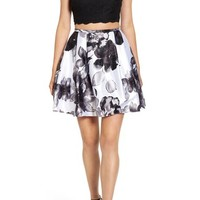 Blondie Nites Two-Piece Floral Print Party Dress | Nordstrom