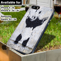 Banksy Panda WN for iPhone 4 / 4s / 5 / 5s / 5c case, Samsung Galaxy S3 / S4 case