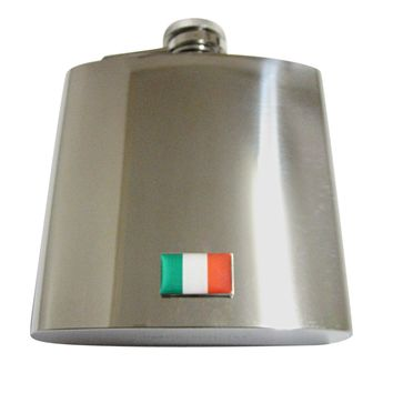 Italy Flag 6 Oz. Stainless Steel Flask