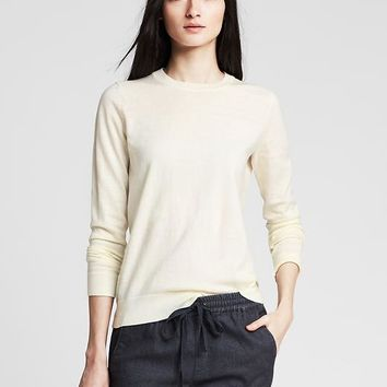 Banana Republic Womens Pima Cotton/Cashmere Anna Crew Pullover